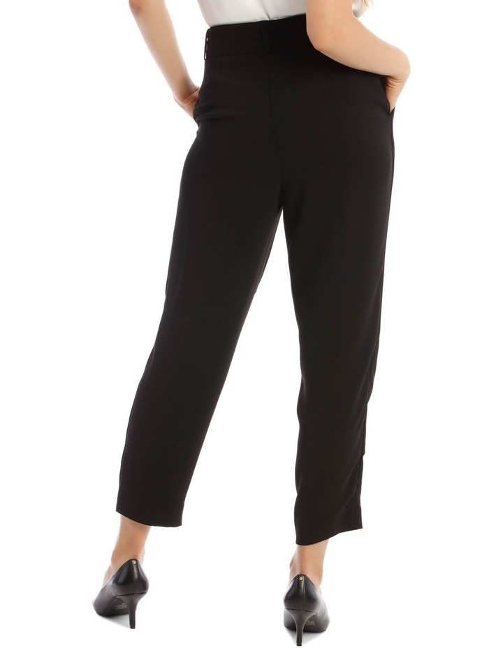 Tapered Pant With Tortoise Belt Buckle image 3