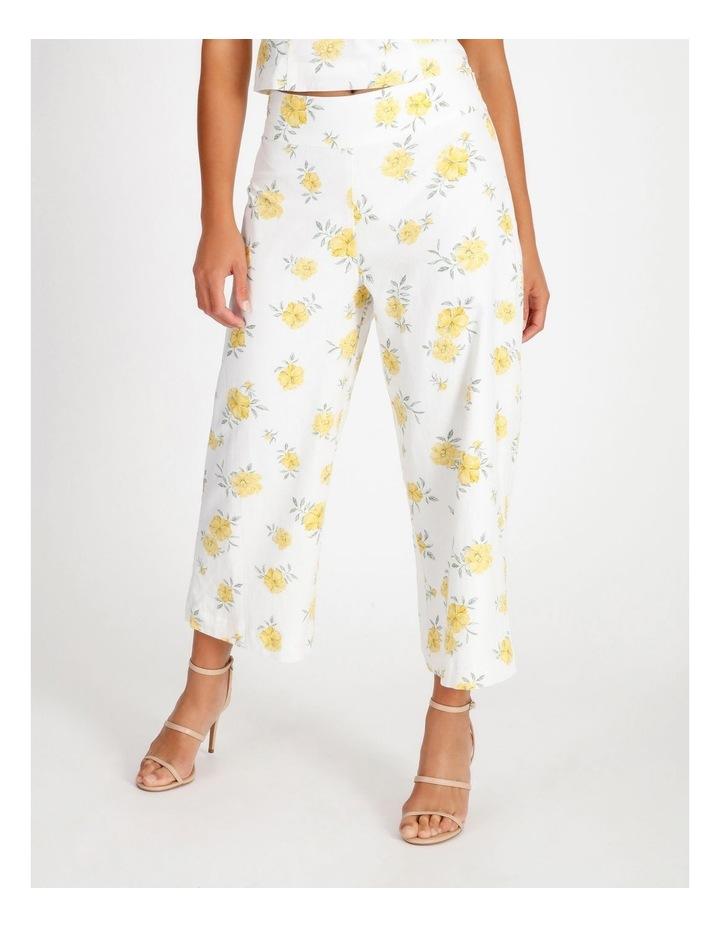 Printed Linen Blend Co Ord Pants image 1