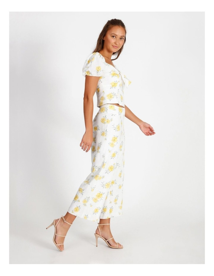 Printed Linen Blend Co Ord Pants image 2