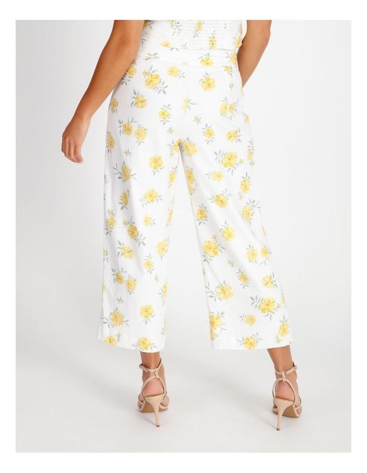 Printed Linen Blend Co Ord Pants image 3