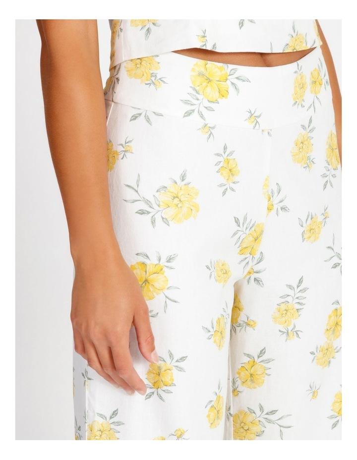Printed Linen Blend Co Ord Pants image 4