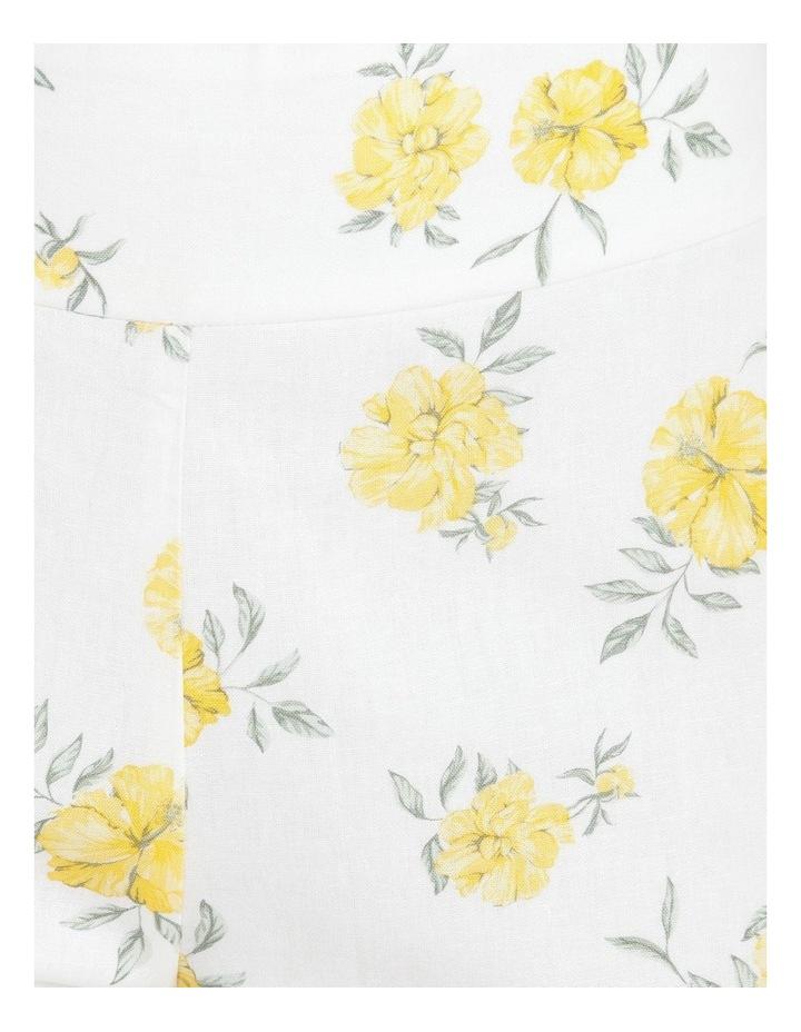 Printed Linen Blend Co Ord Pants image 5