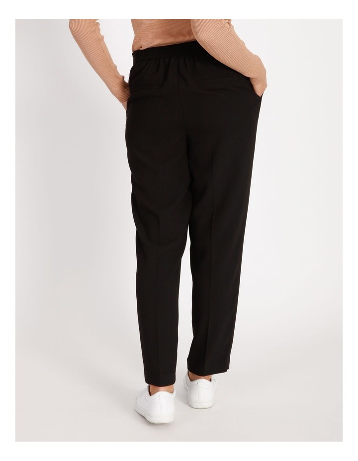 Soft Elasticated Tapered Crepe Pants image 3