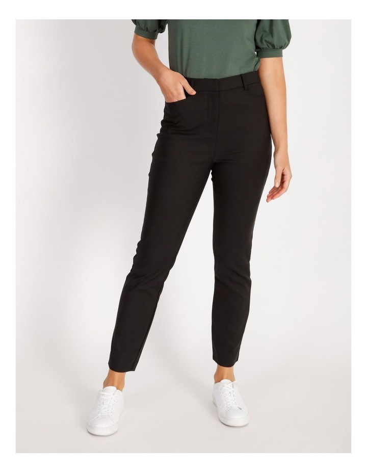 Helena High Rise Full Length Cotton Sateen Pants image 1