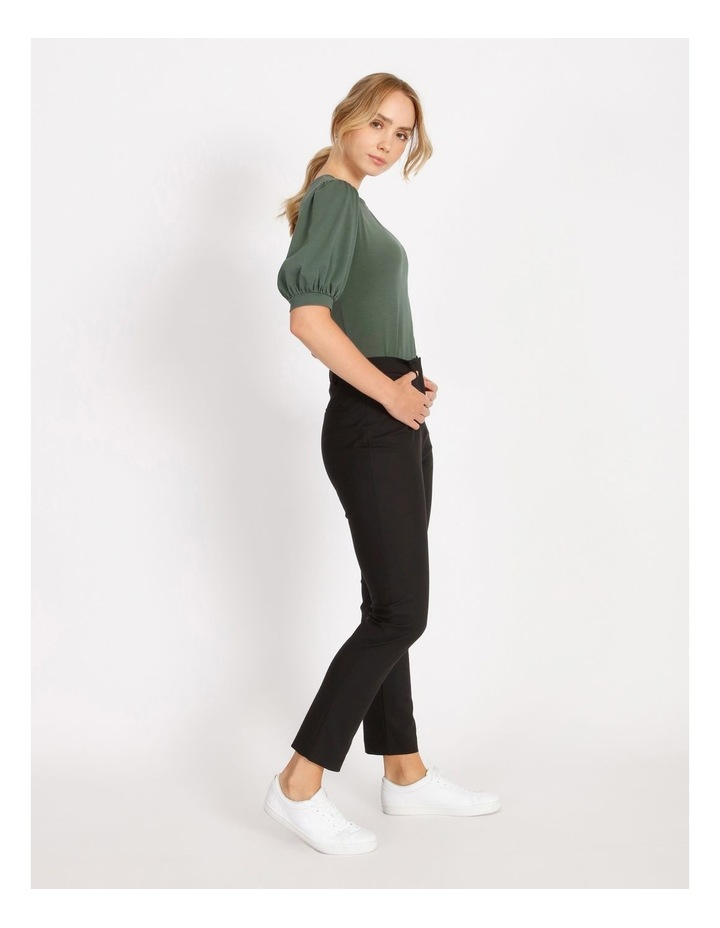 Helena High Rise Full Length Cotton Sateen Pants image 2