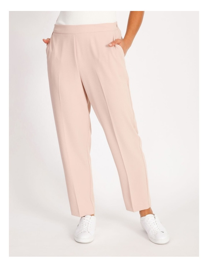 Soft Elasticated Tapered Crepe Pants image 1