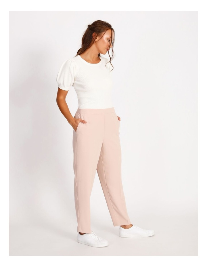 Soft Elasticated Tapered Crepe Pants image 2