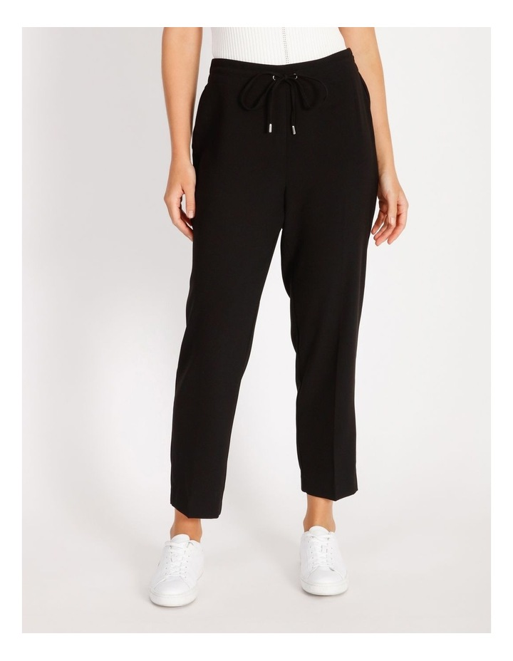 Crepe Relaxed Jogger Pants image 1