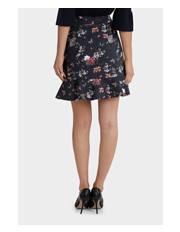 Tokito - Printed Flounce Mini Skirt