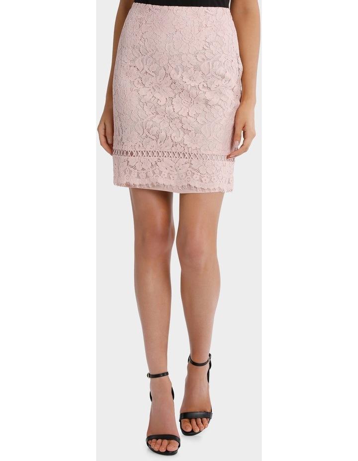 lace pencil skirt - blush pink image 1