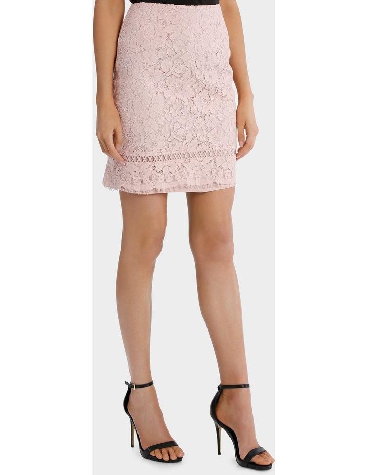 lace pencil skirt - blush pink image 2