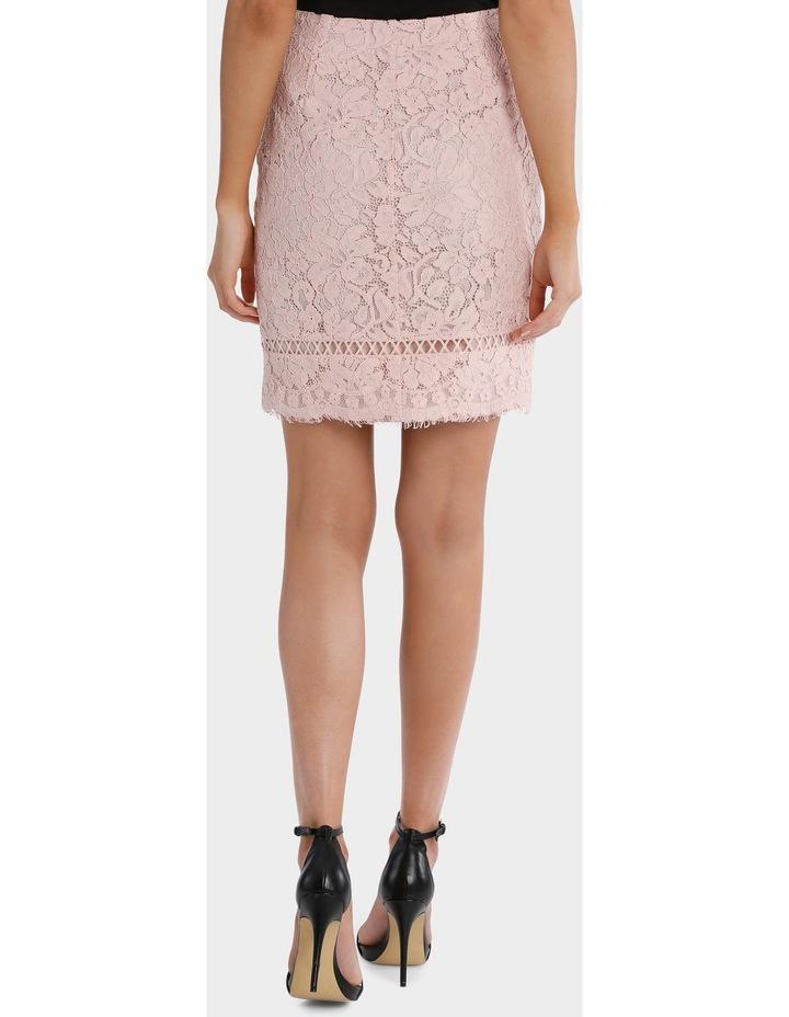 lace pencil skirt - blush pink image 3