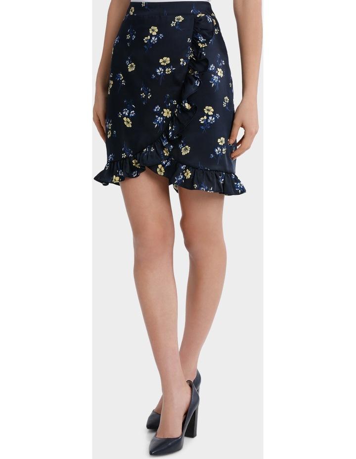 floral frill skirt image 1