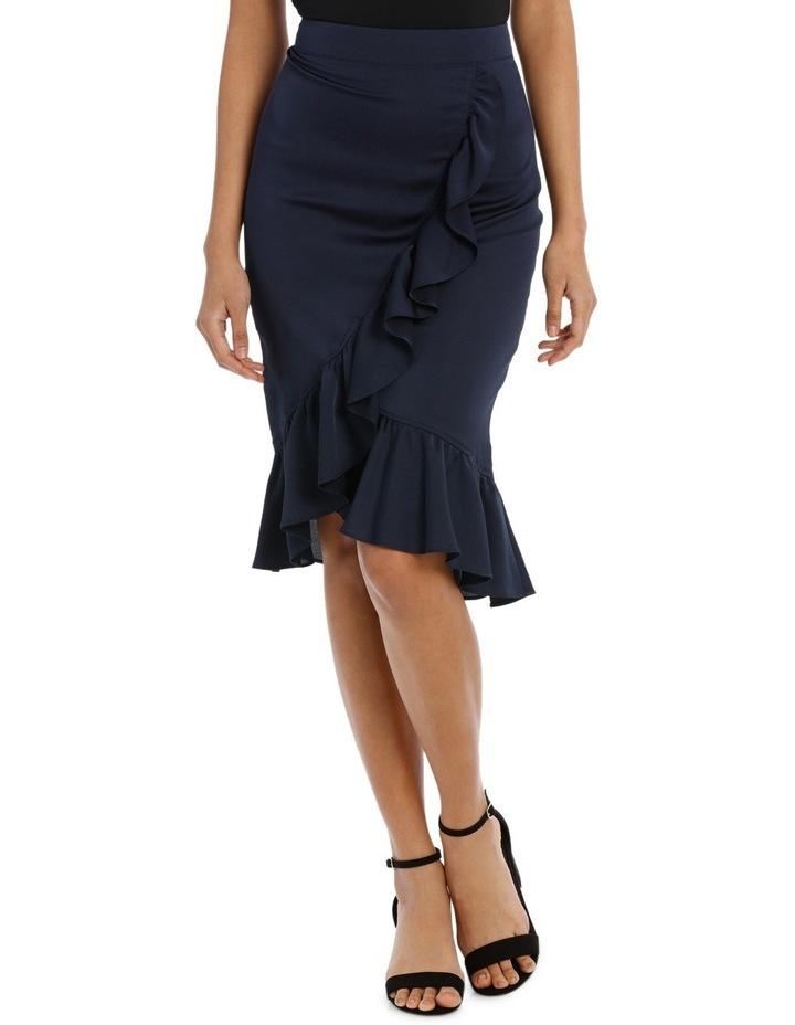 Ruffle Wrap Midi Skirt TS18327 image 2