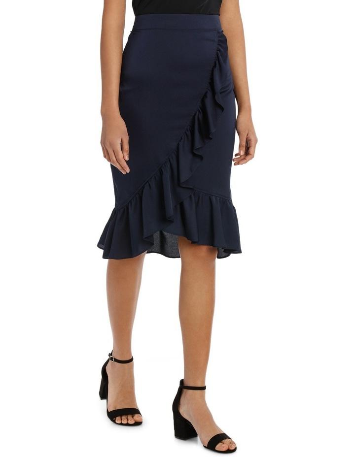 Ruffle Wrap Midi Skirt TS18327 image 4