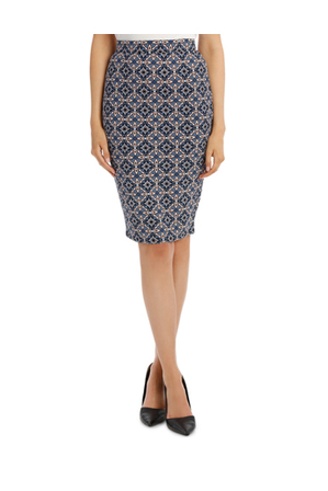 Tokito - Textured Knit Pencil Skirt
