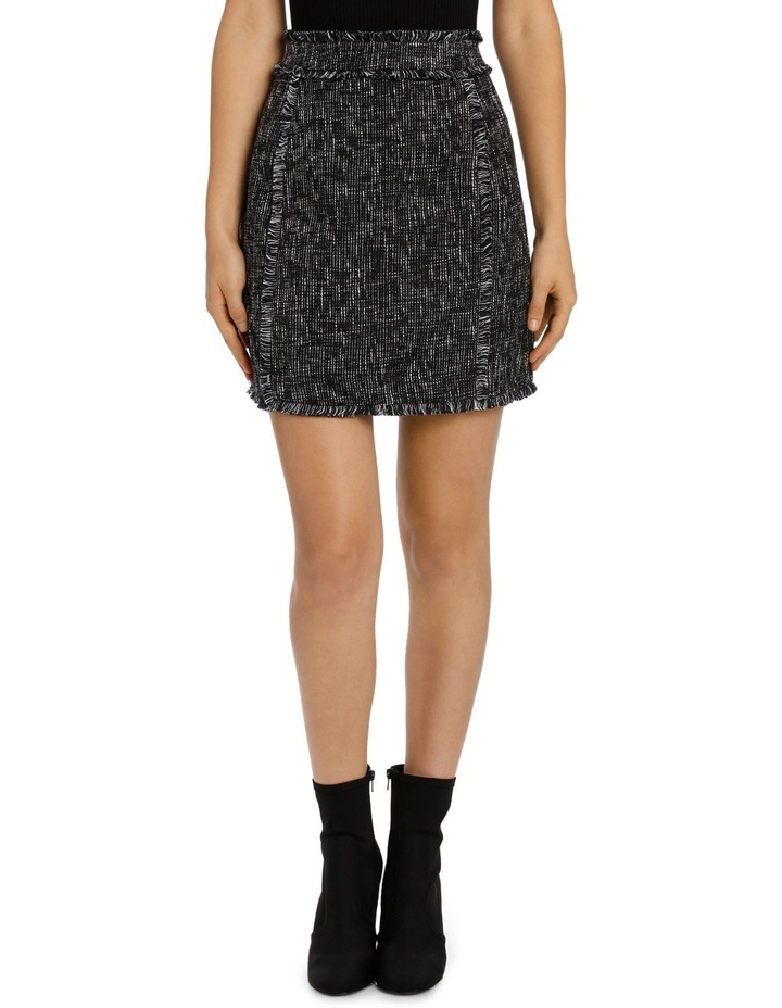 Tasseled Edged Tweed Skirt image 1