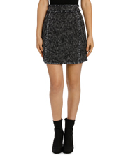 Tokito - Tasseled Edged Tweed Skirt