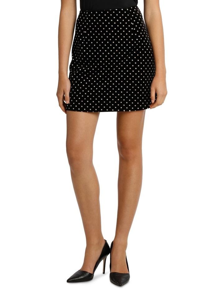 Printed Velvet Mini Skirt image 1