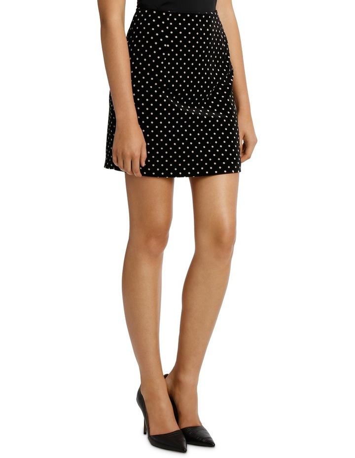 Printed Velvet Mini Skirt image 2