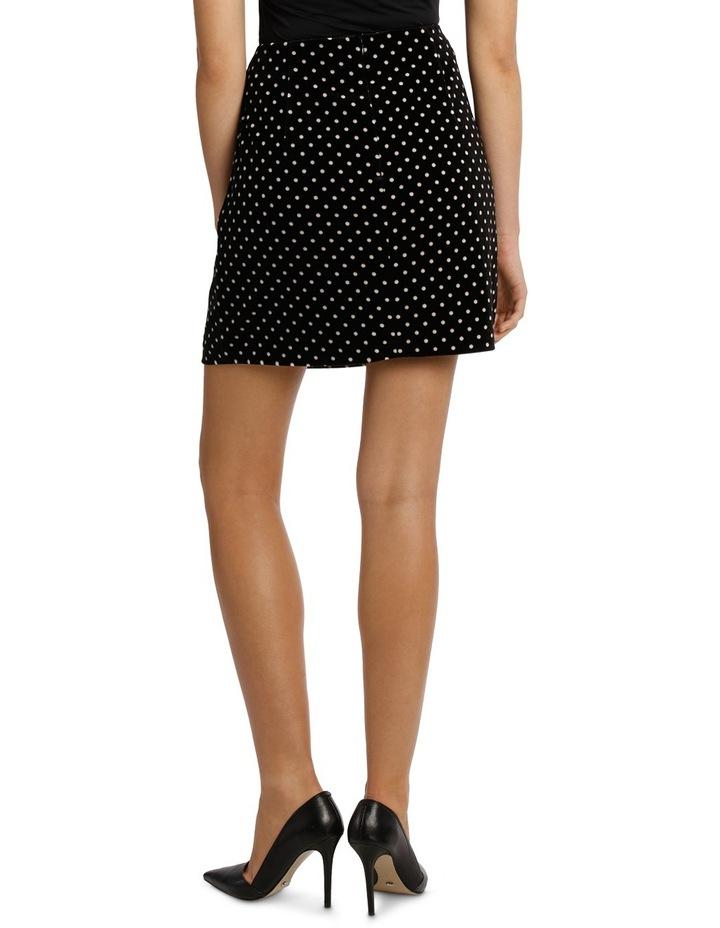 Printed Velvet Mini Skirt image 3