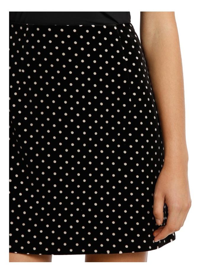 Printed Velvet Mini Skirt image 4
