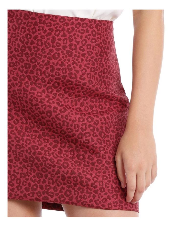 jacquard mini skirt - ocelot image 3
