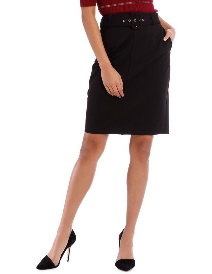 Self Belt Pencil Skirt image 1