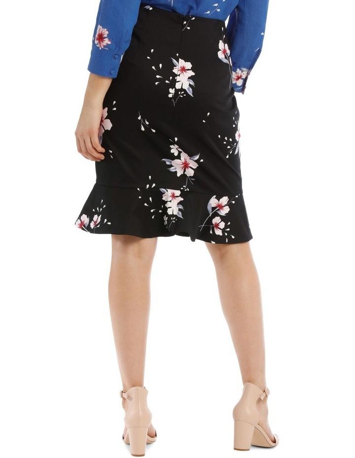Large Bloom Frill Hem Pencil Skirt image 3