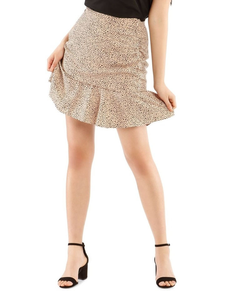 Rouched Flounce Mini Skirt image 1