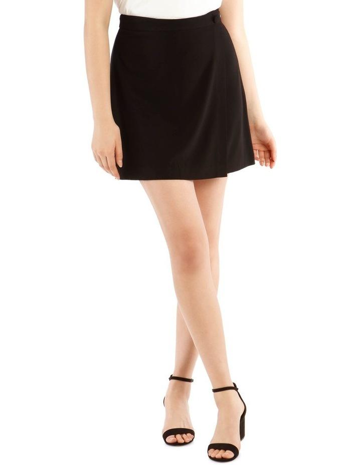 Black Wrap Mini Skirt image 1