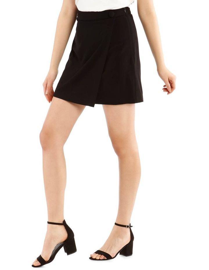 Black Wrap Mini Skirt image 2