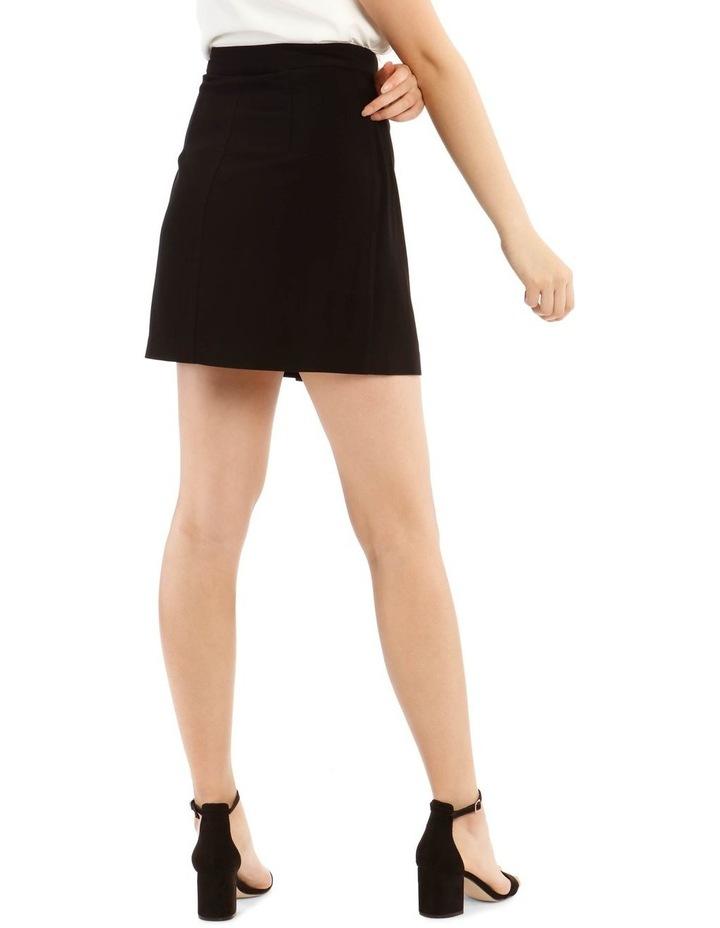 Black Wrap Mini Skirt image 3