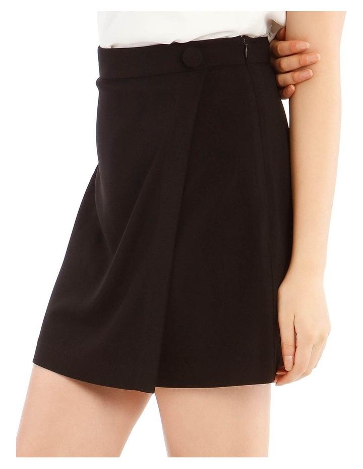 Black Wrap Mini Skirt image 4