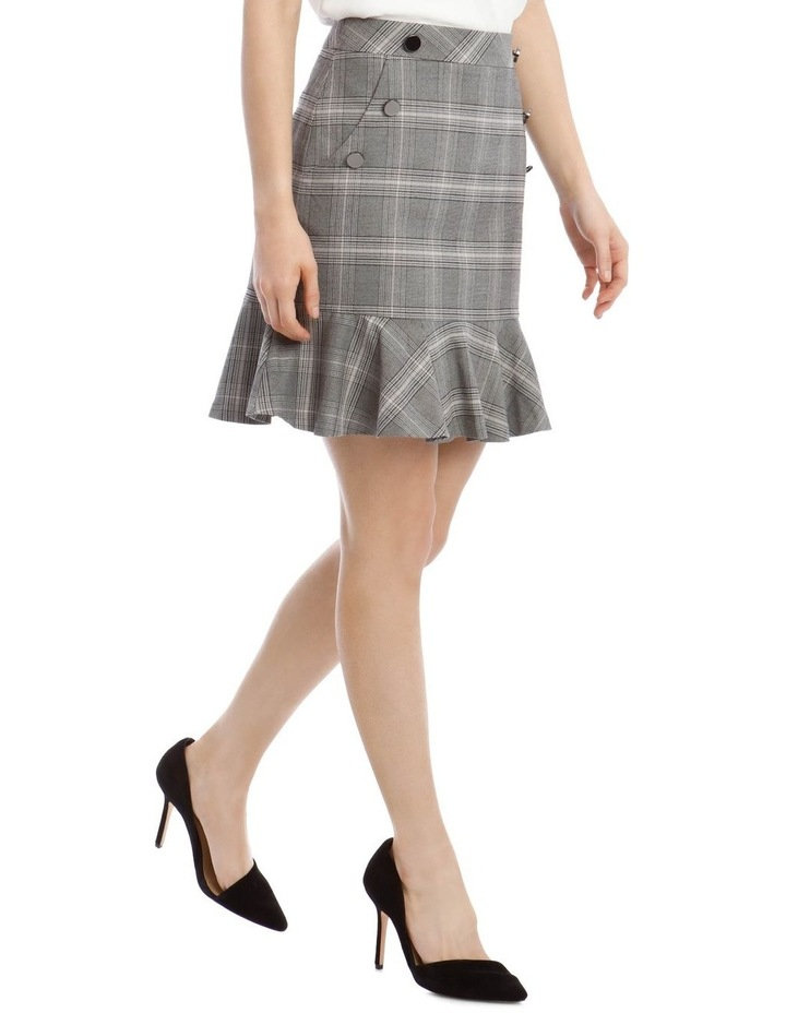 Check Peplum Skirt image 2