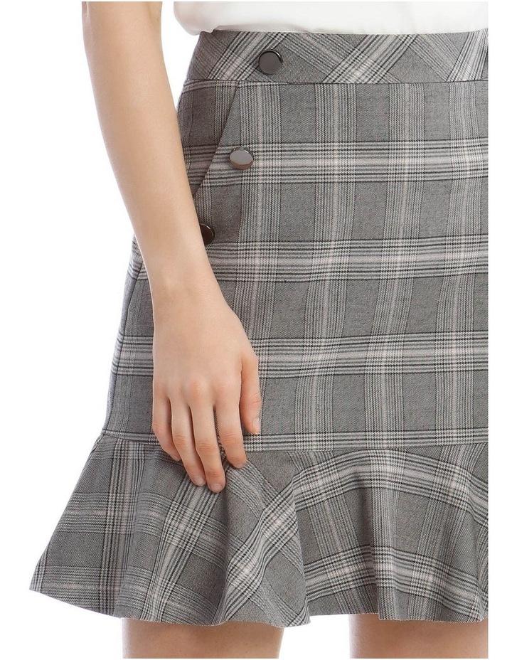 Check Peplum Skirt image 4
