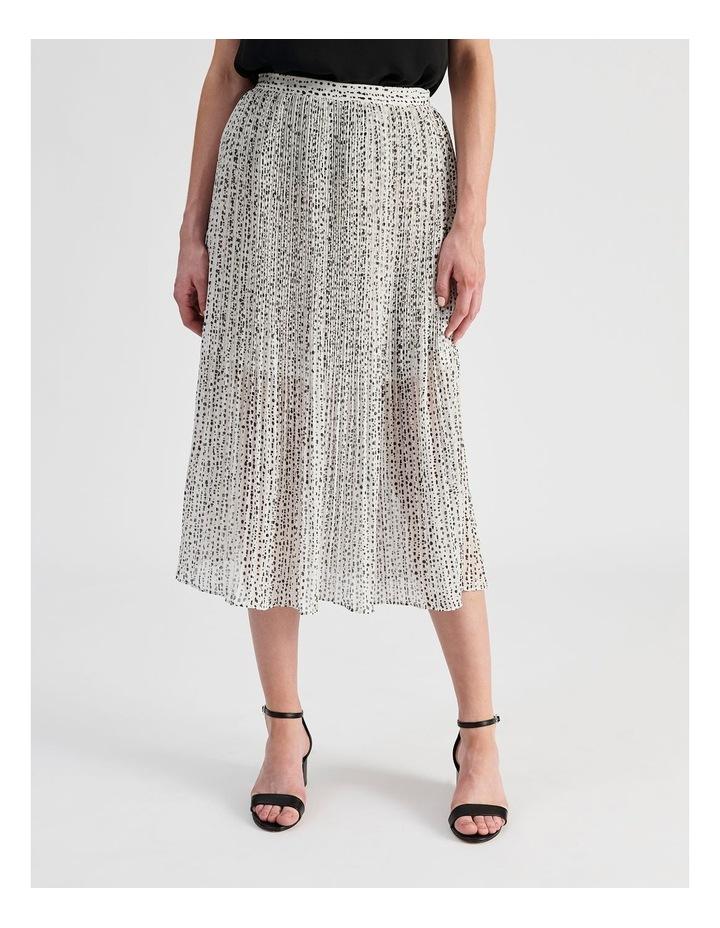 Elastic Waist Pleated Midi Skirt image 1