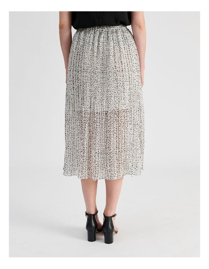 Elastic Waist Pleated Midi Skirt image 3