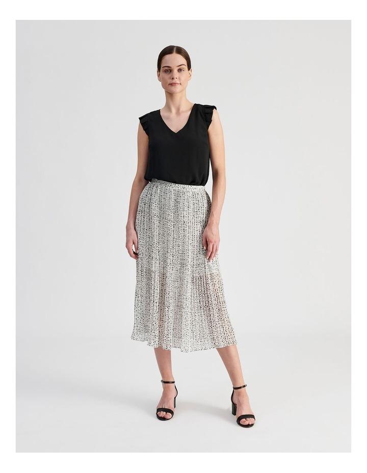 Elastic Waist Pleated Midi Skirt image 4