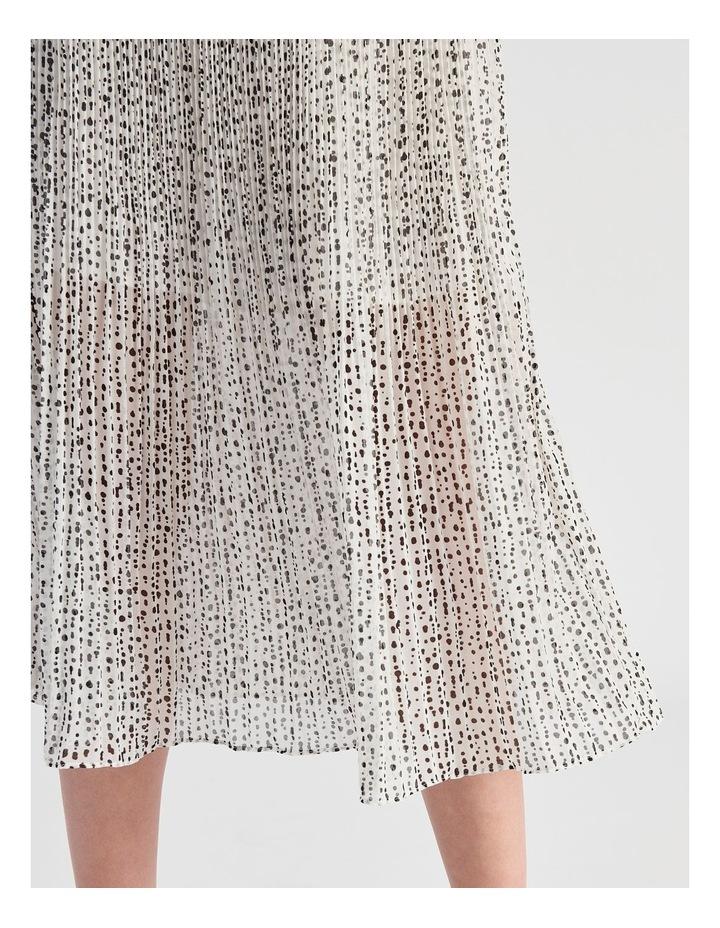 Elastic Waist Pleated Midi Skirt image 5