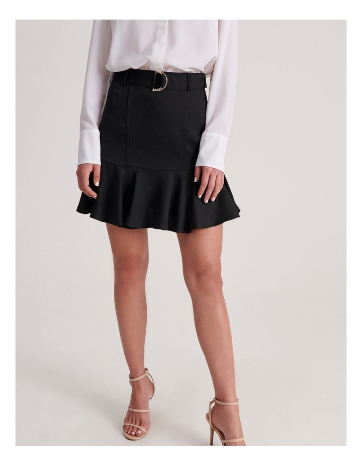 Belted Fit & Flare Mini Skirt image 1