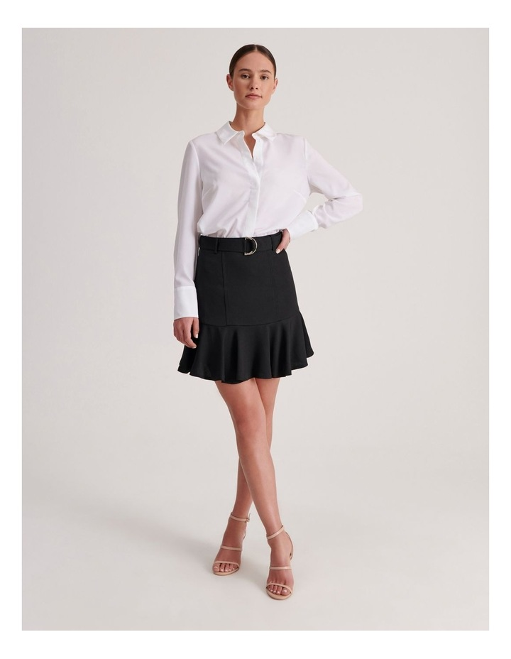Belted Fit & Flare Mini Skirt image 2