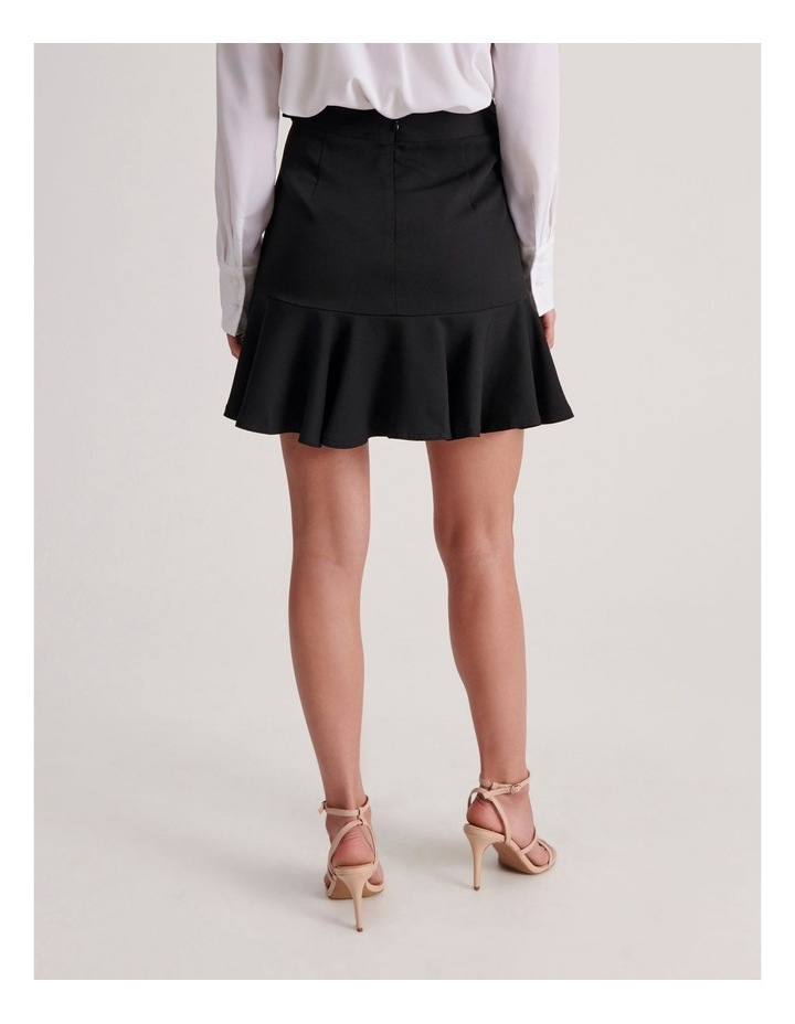 Belted Fit & Flare Mini Skirt image 4