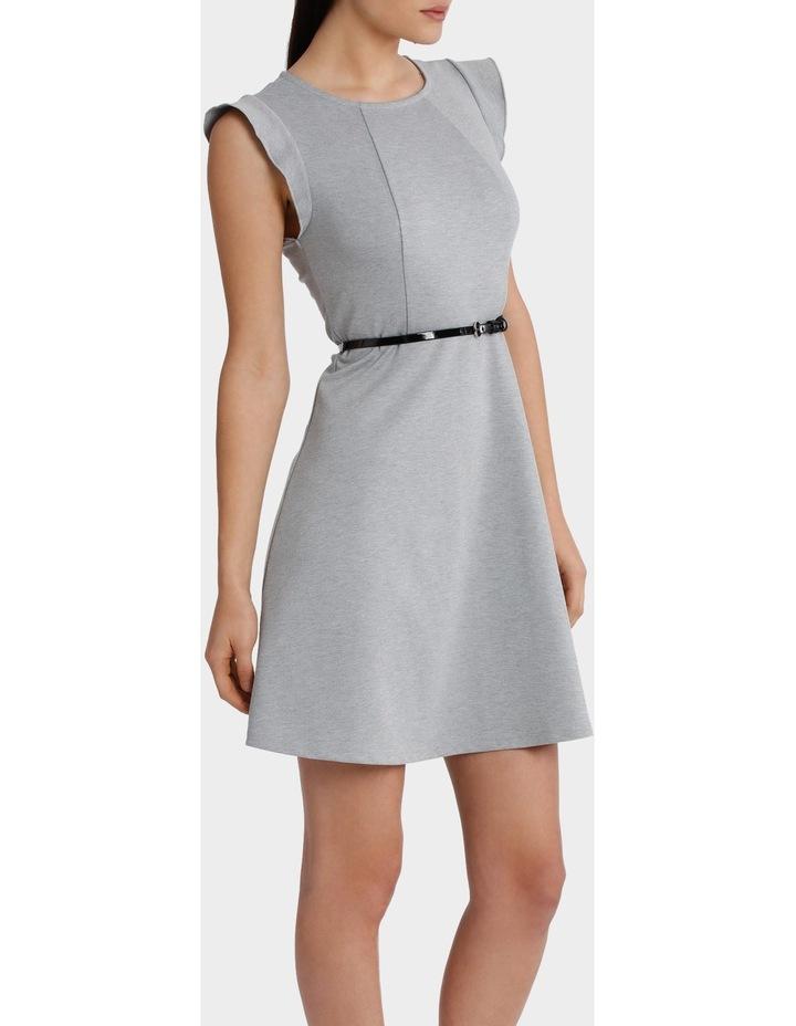 Flutter Sleeve Knit Dress with Belt image 2