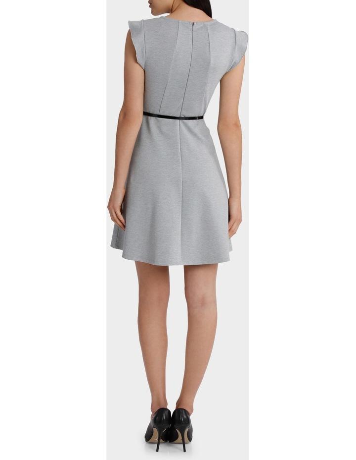 Flutter Sleeve Knit Dress with Belt image 3