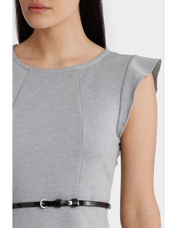 Flutter Sleeve Knit Dress with Belt image 4