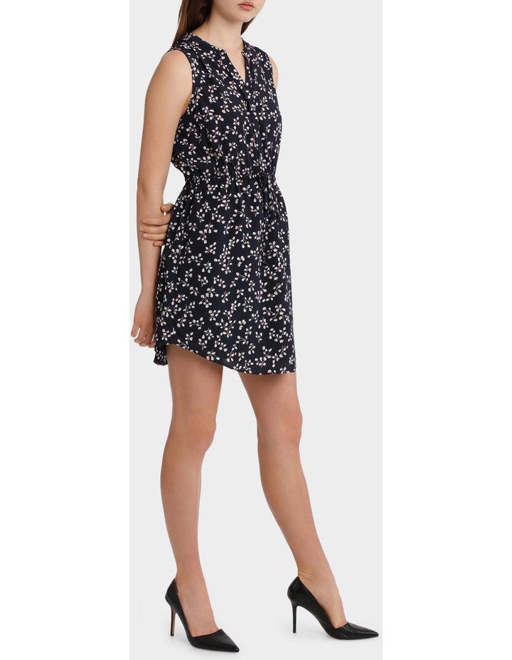 Elastic Waist Collarless Shirt Dress image 2
