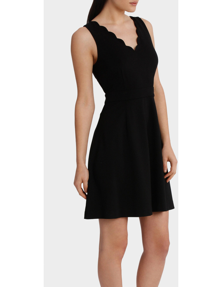 Scalloped Neck Fit And Flare Dress image 2