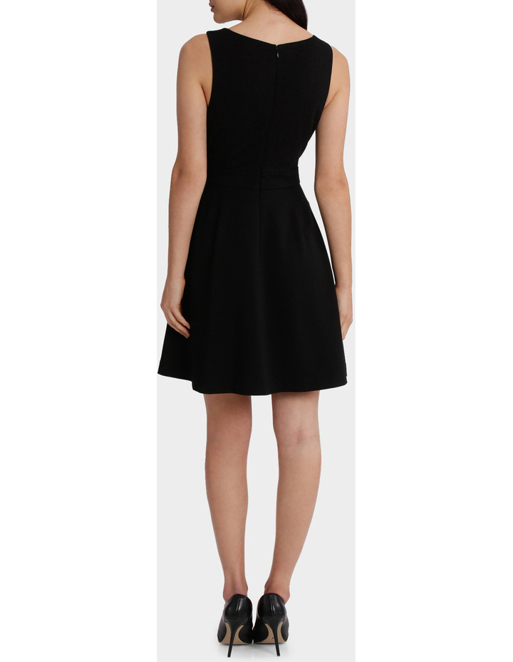 Scalloped Neck Fit And Flare Dress image 3