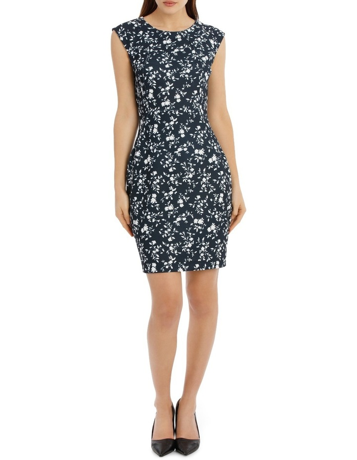 textured body con dress - silhouette print image 1